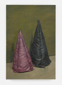 Purple & Blue Cone by Michaël Borremans contemporary artwork painting