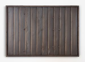 Composition with blind (brown bronze) by Dan Arps contemporary artwork