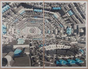 Pasillo 7 (díptico) by Dagoberto Rodríguez contemporary artwork