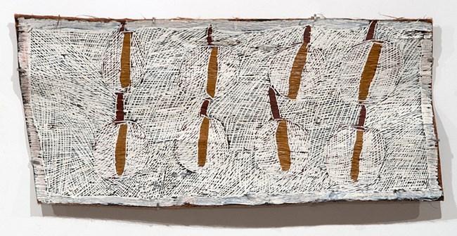 Fallen Leaves #2 by Nyapanyapa Yunupiŋu contemporary artwork