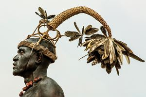 Salampasu Warrior, D.R. Congo by Carol Beckwith & Angela Fisher contemporary artwork