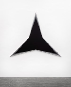 Black Should Bleed to Edge (Black) by Philippe Decrauzat contemporary artwork