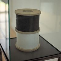 Double Cylinder by Alan Johnston contemporary artwork sculpture