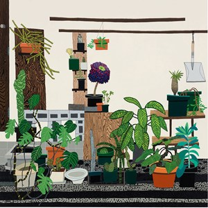 Still Life with Wood Panels by Jonas Wood contemporary artwork