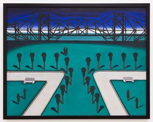 Miami Causeway by Roger Brown contemporary artwork