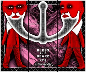 BLESS THIS BEARD by Gilbert & George contemporary artwork