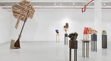 Contemporary art exhibition, Phyllida Barlow, tilt at Hauser & Wirth, 22nd Street, New York