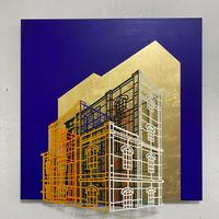 Ambiguous wall- Golden cage 04 by Byung Joo Kim contemporary artwork sculpture