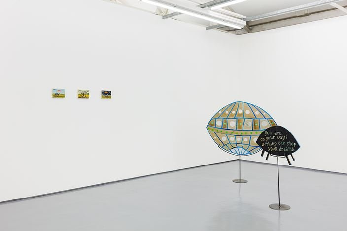 Exhibition view: Esther Pearl Watson, MOTHERSHIP, Maureen Paley, London (4–22 September 2019). © Esther Pearl Watson. Courtesy Maureen Paley, London.