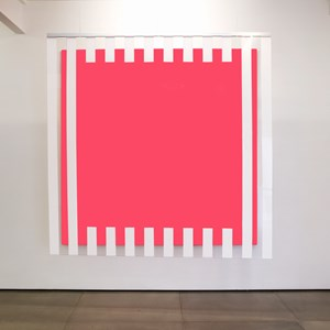 Colors, light, projection, shadows, transparency: situated works pink by Daniel Buren contemporary artwork mixed media