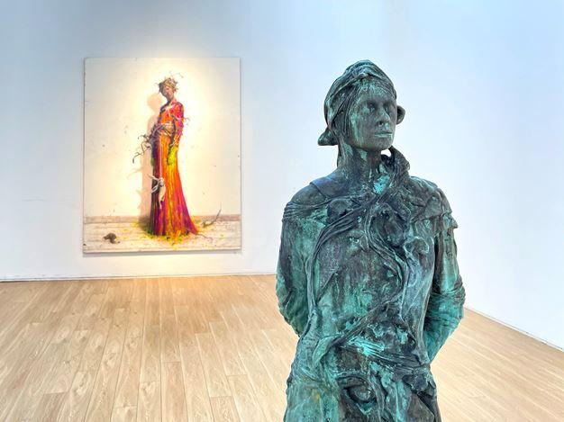 Exhibition view: Jonas Burgert, Blindstich, Tang Contemporary Art, Beijing (19 December 2020–31 January 2021). Courtesy Tang Contemporary Art.