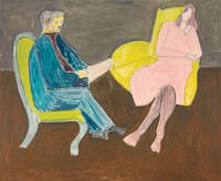 Young Couple (Husband and Wife) by Milton Avery contemporary artwork painting