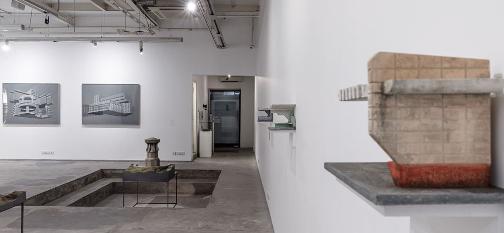 Exhibition view: Sahil Naik, Monuments, Mausoleums, Memorials, Modernism, Experimenter, Kolkata (8 January–25 February 2020). CourtesyExperimenter.