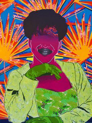 Heir Lesley (Her Mudda's Shadow) by Cynde Jasmin Coleby contemporary artwork
