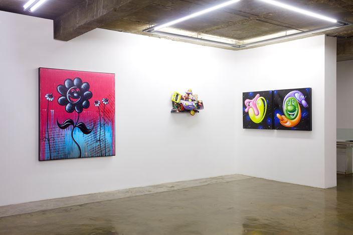 Exhibition view: Kenny Scharf, Anxiously Optimistic, Baik Art, Seoul (23 October–22 November 2019). Courtesy Baik Art.