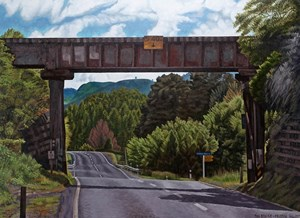 The Bridge by Dick Frizzell contemporary artwork