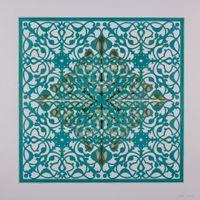 Ephemeral Bloom - Teal by Anila Quayyum Agha contemporary artwork works on paper
