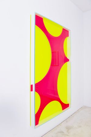 colormirror mesh red by Regine Schumann contemporary artwork