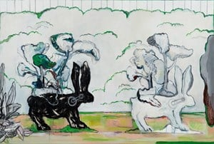 The Game of Opposites 黑白遊戲 by Ying Hung contemporary artwork