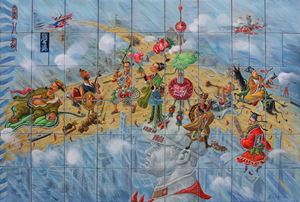 The Eight Immortals of the Party 黨八仙 by Liu Dahong contemporary artwork