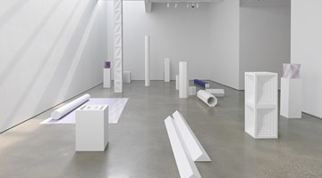 Contemporary art exhibition, Sara VanDerBeek, Pieced Quilts, Wrapped Forms at Metro Pictures, New York