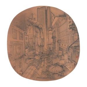 Street Life in Hong Kong by Xu Jianguo contemporary artwork