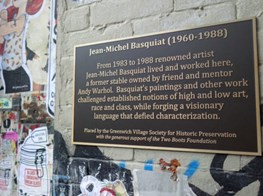 Basquiat's former home and studio gets a permanent plaque