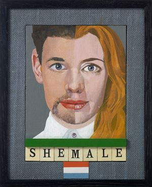 Shemale by Peter Blake contemporary artwork