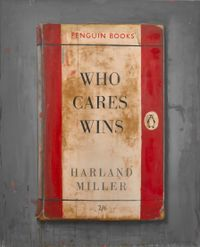 Who Cares Wins by Harland Miller contemporary artwork painting