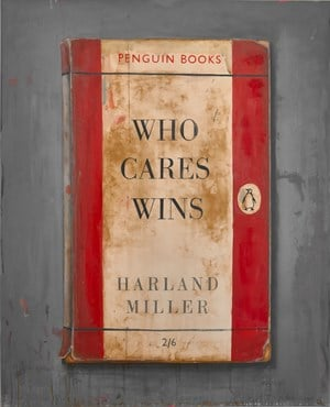 Who Cares Wins by Harland Miller contemporary artwork
