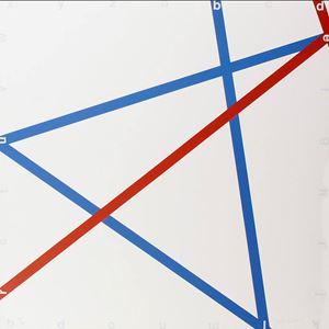 Blue-red by François Morellet contemporary artwork