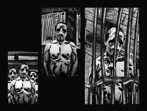 ¡Correlé, correlé, correlá, Por aquí, por aquí, por allá, Correlé, correlé, correlá, Correlé que te van a matar!  (Manuel) by Edison Peñafiel contemporary artwork