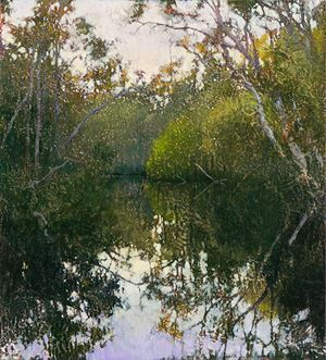 Early Morning, Murdering Creek by A.J. Taylor contemporary artwork