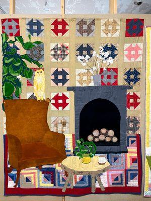 Homestead by Jesse Krimes contemporary artwork textile
