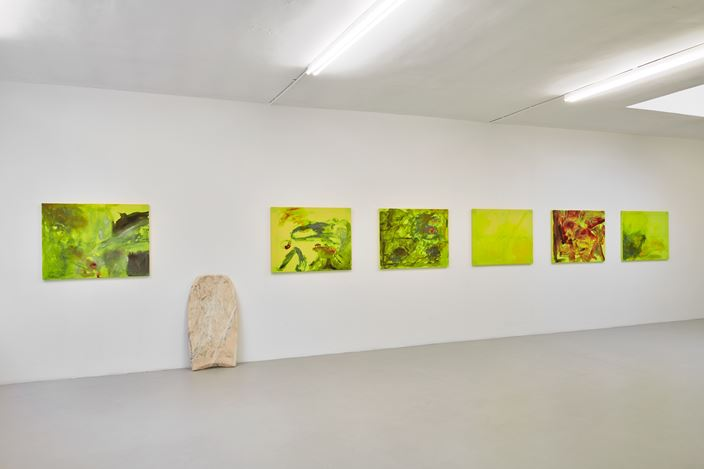 Exhibition view: Reena Spaulings, Lion Hunt, Campoli Presti, London (21 March–18 May 2019). Courtesy Campoli Presti.