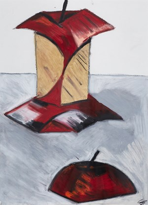 two apples by Kwon Chulhwa contemporary artwork
