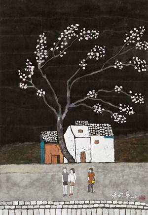 Cherry in Blossom by Chu Hing-Wah contemporary artwork