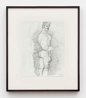 Untitled (Preparatory Drawing) by Tom of Finland contemporary artwork
