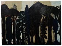 Night Forest by Danny Romeril contemporary artwork painting