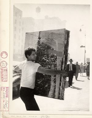 Alfred Leslie, 4th Ave. NY by John Cohen contemporary artwork