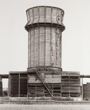 Cooling Tower [Kühlturm], Mons, Borinage, B by Bernd & Hilla Becher contemporary artwork