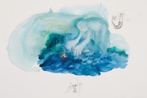 Accroche-toi à la vague by Karine Rougier contemporary artwork