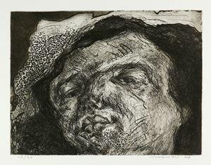 Gesicht Radierung by Marwan contemporary artwork