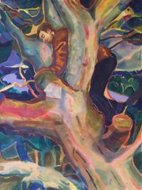 Repetition rooted in that earlier grief 2 by Rebecca Harper contemporary artwork painting