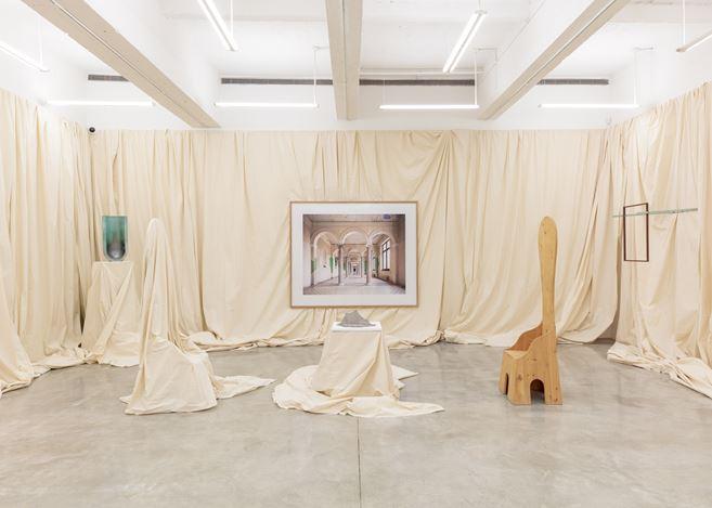 Exhibition view: Group Exhibition, For Mario, Tina Kim Gallery, New York (28 June–23 August 2019). Courtesy Tina Kim Gallery.Photo: Jeremy Haik.