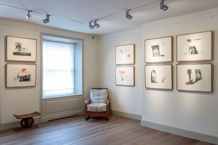 Exhibition view: David Hockney, Early Drawings, Offer Waterman, London (25 September–23 October 2015). Courtesy Offer Waterman.