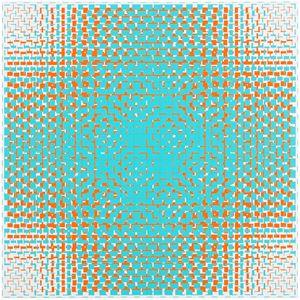turquoise-orange (A) by Matti Kujasalo contemporary artwork