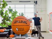 An Artist on Finding Balance, and His Giant Basketball Sculpture