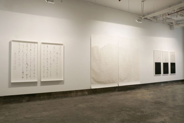 Exhibition view: Group exhibition, Needlepoint, Chambers Fine Art, New York (3 May–22 June 2019). Courtesy Chambers Fine Art.