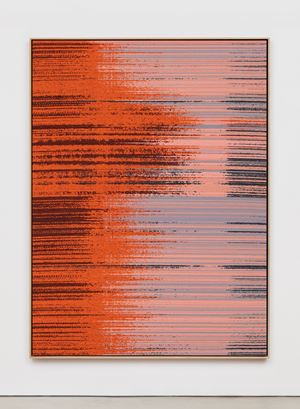Negative Entropy (TAE, Neutral Beam Test, B, Full Width, Orange, Quad) by Mika Tajima contemporary artwork